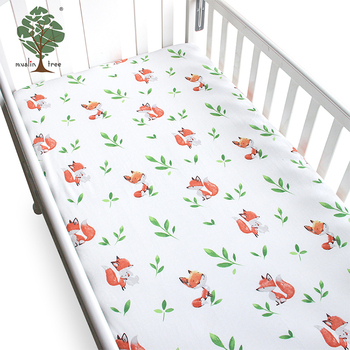 Muslin Tree Fox Pattern 100 Cotton Baby Crib Sheets For Home