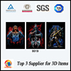 High Definition lenticular plastic custom skeleton 3d flip pictures