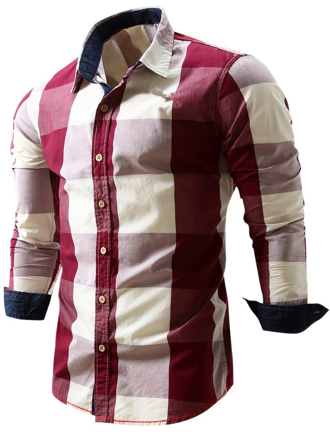Two color dress shirts for men