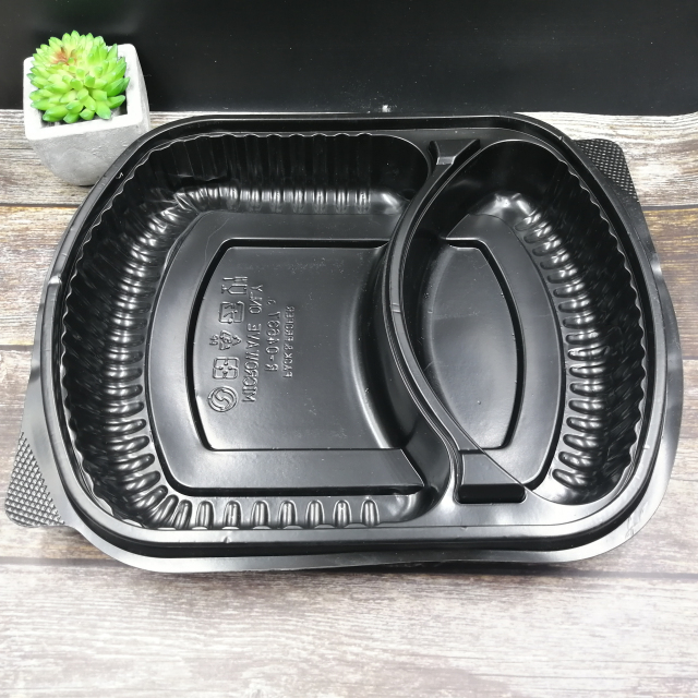 Packaging Pp Plastic Disposable Fast Food Meal Bento 3 Compartment Lunch Box