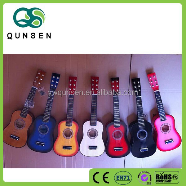 Wholesale kids educational wooden toy guitar