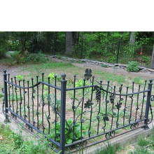 Modern style Hot Dippped Galvanized steel fence railing cast iron fence