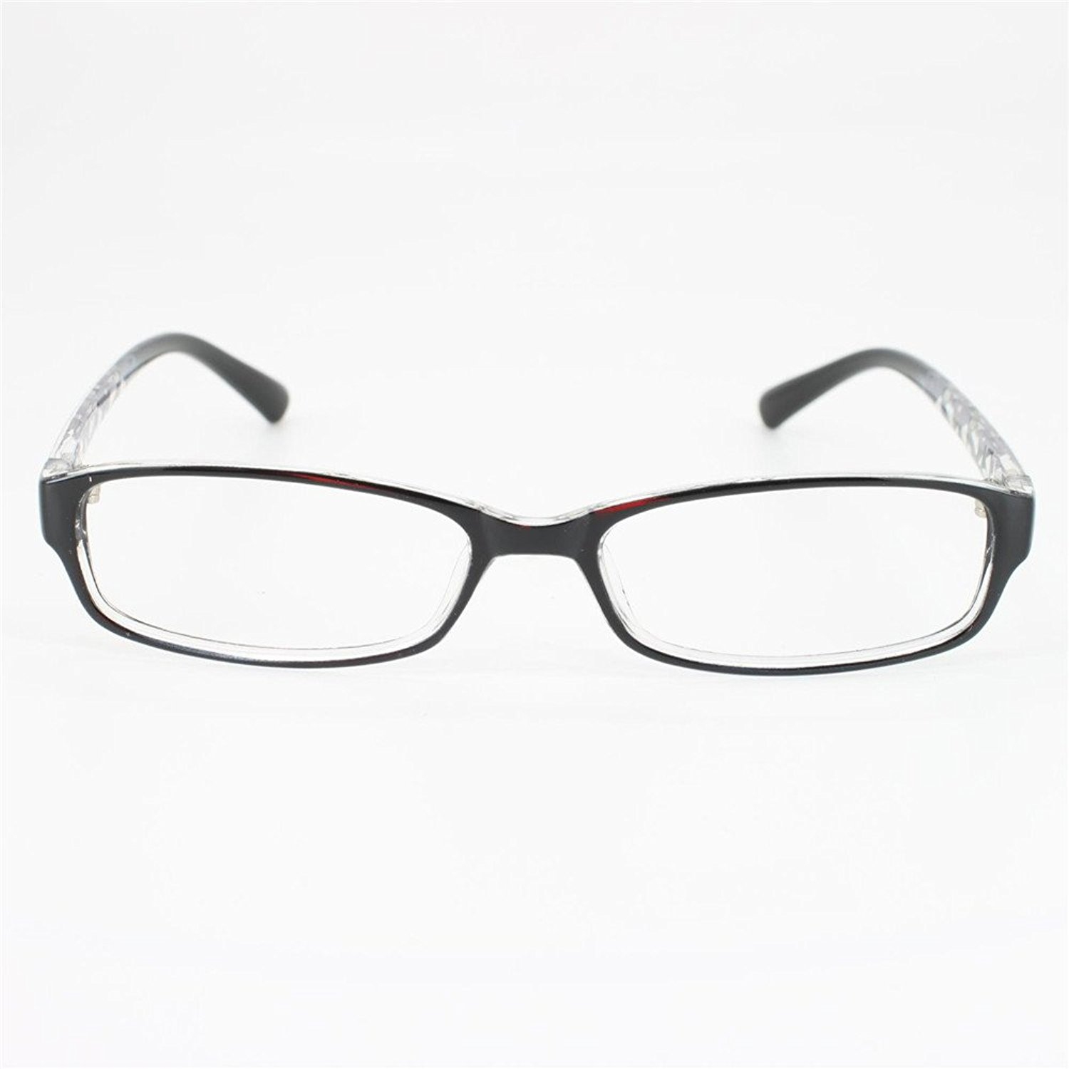 927d6c6c26 Get Quotations · EyeBuyExpress Rectangle Black Reading Glasses Stainless  Steel Frame