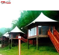 Pvdf Tensile Membrane Structure hotel lodge Camping Hotel Tent