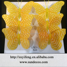 colourful cheap artificial butterfly for home decoration//wedding handmade butterfly christmas tree ornaments