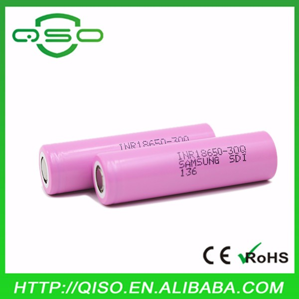 High Capacity Samsung 30Q 18650 rechargeable battery INR18650-30Q