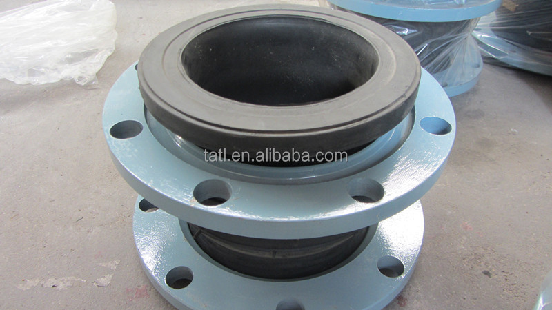 Flexible rubber shaft coupling with flange for pvc pipe
