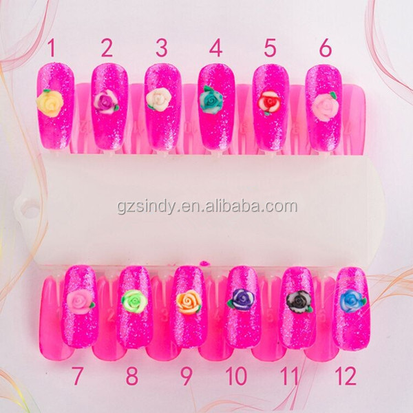 High Quality Easy Flower Nail Design Polymer Clay Silicone Art Rose