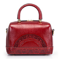 2018 Autumn Winter Women Tote Bag Embossed Pattern Hot Sale Shoulder Bag Factory Direct Genuine leather bags for women