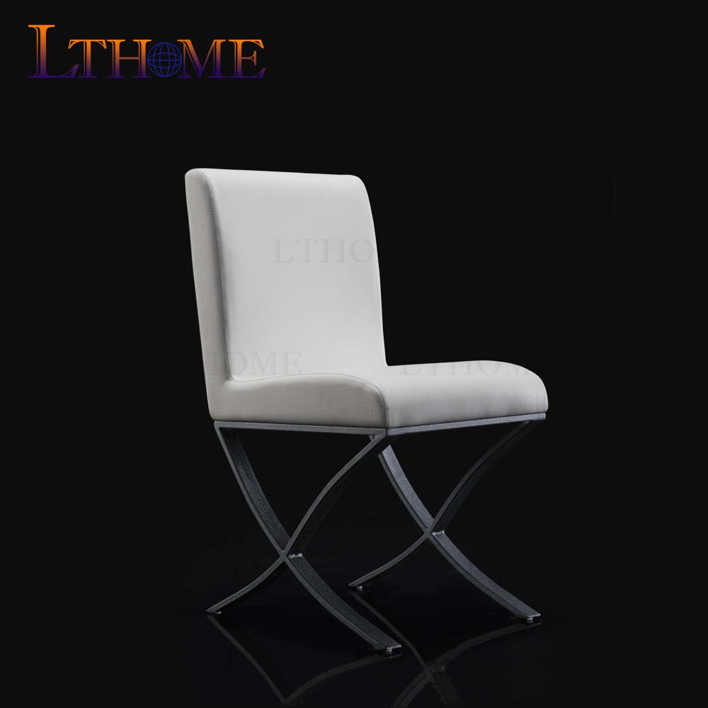 B56073 diseño Simple réplica muebles de comedor base de metal silla ...