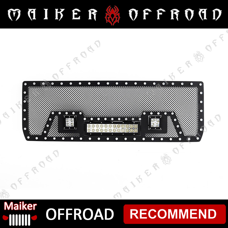 LED Light Grille parts For 2014-2016 GMC Sierra 1500 auto accessories from Maiker