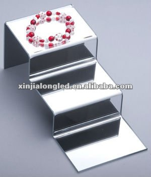 Mirror Acrylic Mini Counter Top 3 Layer Step Acrylic Display Step Stand For Bracelet Display Arts and Crafts Display
