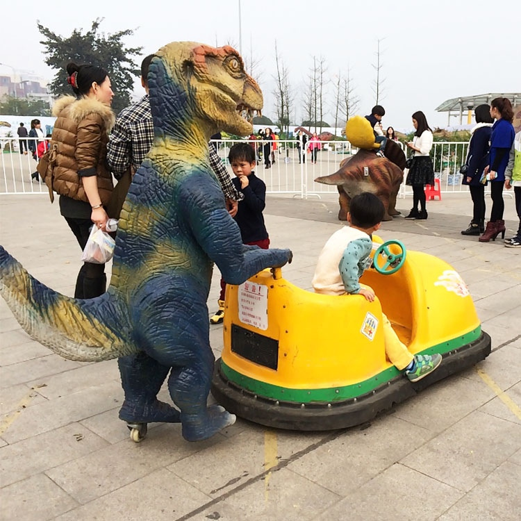Amusement park kids electrical car with dinosaur model on the back