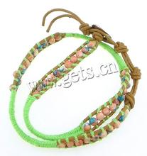 Leather 4.5mm, 8mm leather wrap bracelet flower