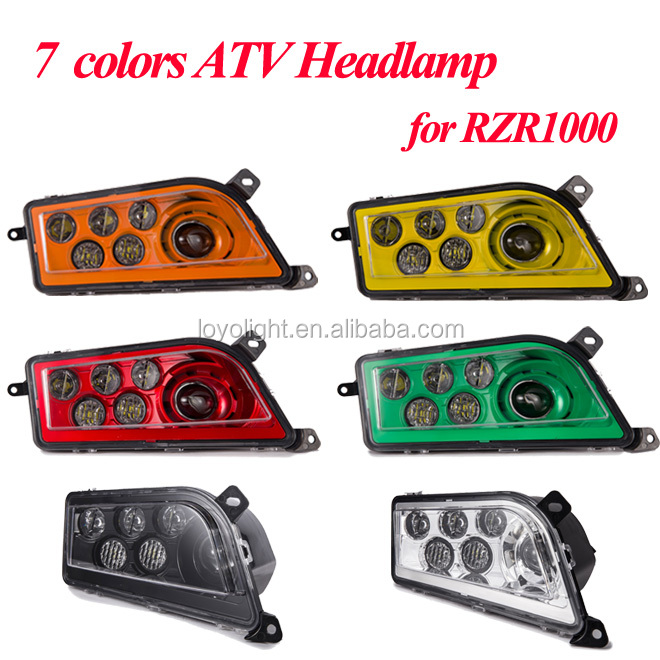 2019 Red ATV LED Headlights RGB Halo Ring For Polaris RZR 1000 XP RZR 900 /& S
