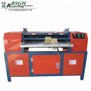 BSGH High Effective Aluminum Copper Radiator Scrap Copper Tube Recycling Radiator Fin Machine Stripping for Metal Recycling