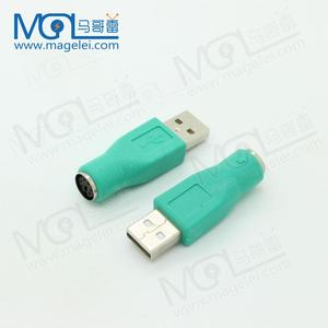 High quality green color USB 2.0 male to PS2 female adapter/ converter