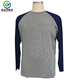 Raglan sleeve 2 tone mens bamboo t shirt for fishing