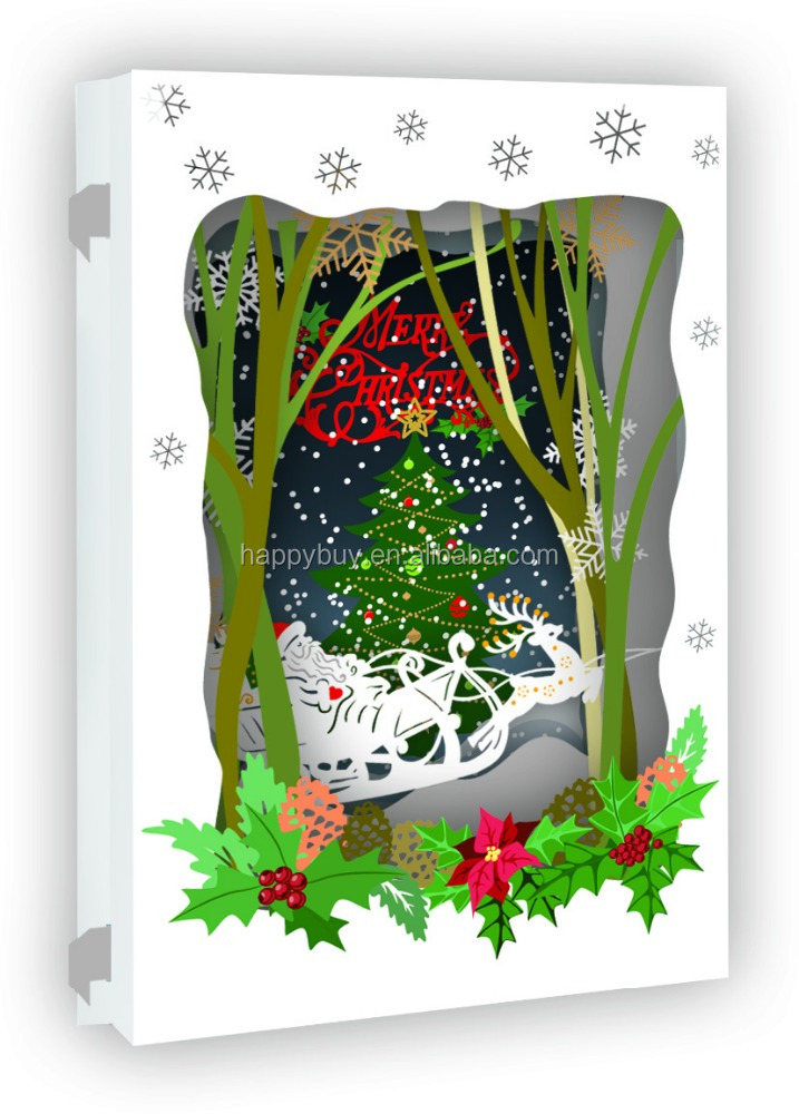 2015 Paper Laser Cut Christmas Cards New Design - Buy Paper Cut ...