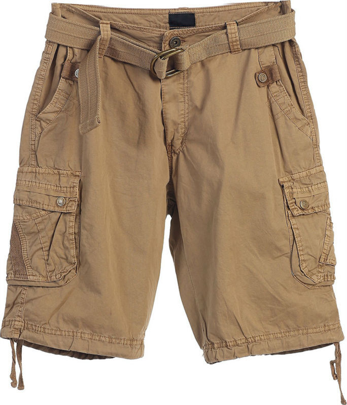 Oem Wholesale Mens Camouflage Cargo Shorts Snap Button Pockets ...