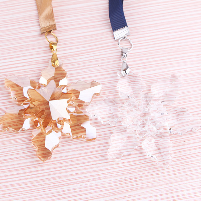 High Quality Clear Crystal Snowflake Pendant Christmas Ornament