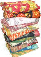 Wholesale Indian Handmade 100% Cotton Reversible Kantha Blanket/Throw/Quilt/Gudari/Bedspread