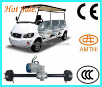 Super Electric Golf Cart Transmission Motor With Rear Axle,Pedicab Rickshaw with Rear Motor with Differential gearbox,Amthi