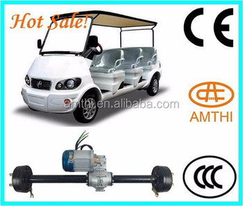 Super electric golf cart transmission motor with rear axle for Golf cart motors electric