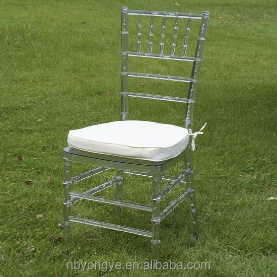 clear resin chiavari/tiffany chair