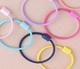 Wholesale simple elastic hair ties colorful hair band with botton hair accessories