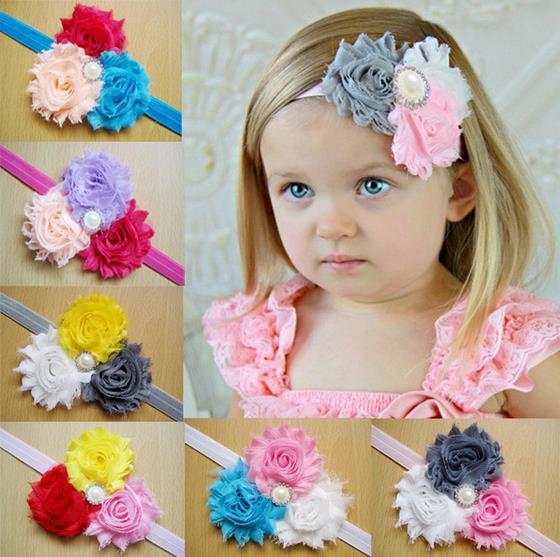 renda elastis bando bunga bayi perempuan flower headband aksesoris rambut berantakan anak flowerweave