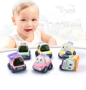 Hot selling RTS cute style diecast model car truck Resistance to falling inertia car toy can pay later