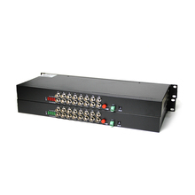 Serat Optik Transmitter dan Receiver 1 Pasang 1U Rack-Mount Mengembalikan Data 16 Channel Serat Optik Digital Video Converter