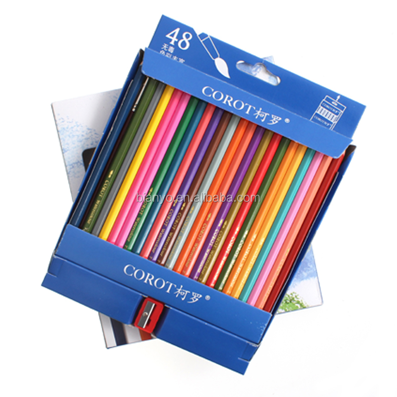 Hot Sale Pencil Customed Logo Printed Wholesale Promotional Colored Pencil