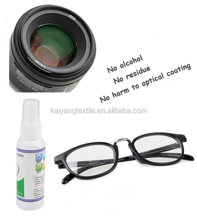 Set spray glass lens cleaner with single package