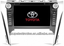 2 din touch screen 8 inch special car audio and video for toyota new camry 2012 with GPS BT TV steering wheel control
