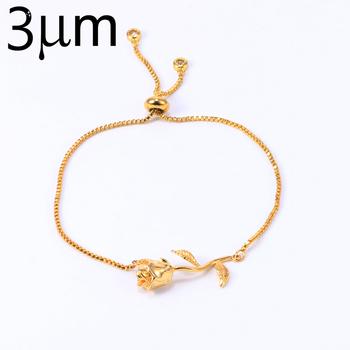 Por Whole Festival Items Personalized Jewelry Rose Bracelet Charm Gold