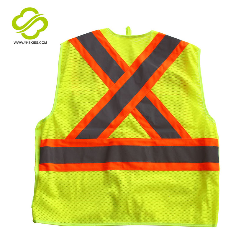 Reflective Yellow -green polyester Jersey vest