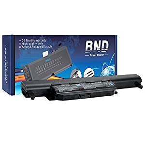 BND Laptop Battery [with Samsung Cells] for Asus U57A X55 X55C X55U X75 K55A K55N R500V, fits P/N A32-K55 A33-K55 A41-K55 - 24 Months Warranty [6-Cell 5200mAh/58Wh]