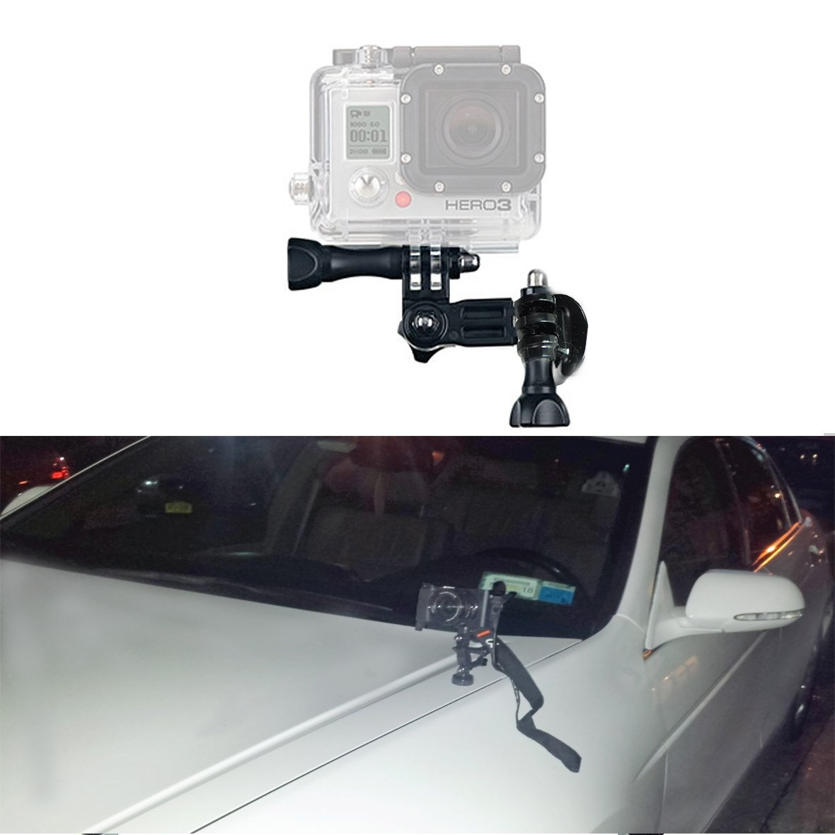 Rubber Coated Magnet Mount with Arm Extensions for GoPro Sony Alphas and other cameras