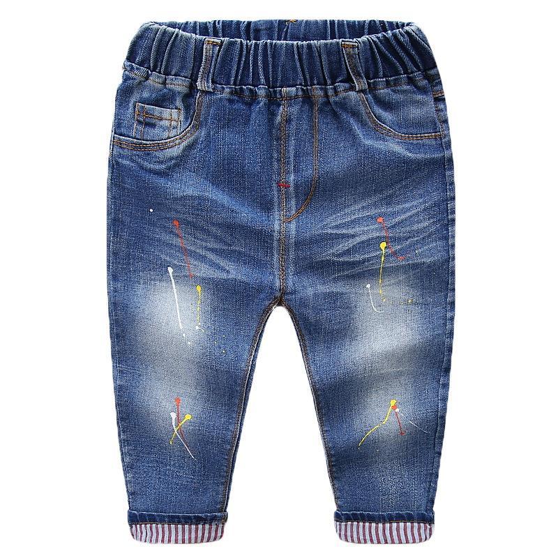 2018 pas cher enfants mode garçons jean en gros enfants denim à volants pantalon malaisie Philippines costumes chinos jean