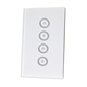 FBU3 IOS US 4 Gang 220V touch light wifi wall switch smart home