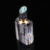 Luxury Bevel bottle cap transparent perfume crystal bottle for perfume oil