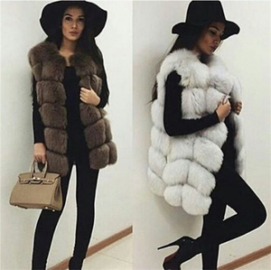 2019 Women's Latest Real Fox Fur Vest Fox Fur Gilet