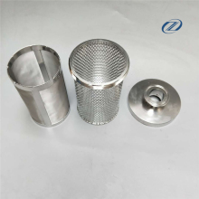 metal mesh screen basket strainer / dust basket filter oil