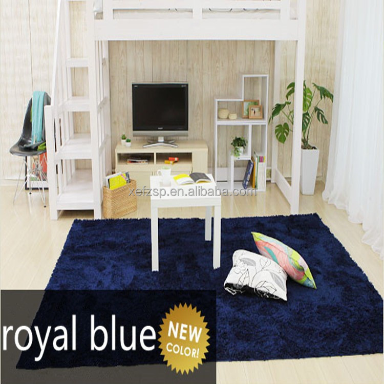 soft blue shaggy area washable carpet rug for sale