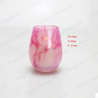 New pink wedding decoration Stone candle holder marble cup holder marble candle jars