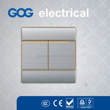 UK standard brushed panel wall switch socket ,metal wall switch manufacturer
