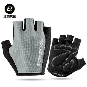 ROCKBROS Summer Half Finger Gloves for Men Women Polyester MTB Road Sport Bike Bicycle gloves Breathable Washable
