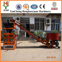 automatic clay brick making machine suppliers HBY1-10 interlocking brick making machine small manufacturing plan